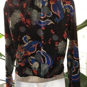 Scarlet Roos |  Made in France Jackets & Coats - Short Pile Velour Dragon Bomber Jacket